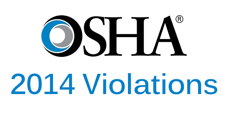 Past Top 10 OSHA Violations Retain Positions in 2014